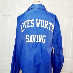 Vintage Cardinal Nylon Lifeguard Jacket